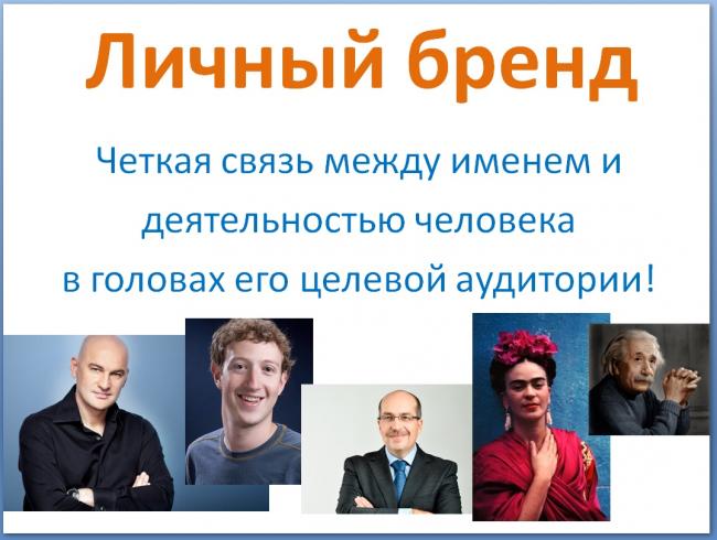 Слева направо: Радислав Гандапас — ораторское мастерство и лидерство, Марк Цукерберг — Фейсбук, Игорь Манн — маркетинг, Фрида Кало — искусство автопортрета, Альберт Эйнштейн — физика и теория относительности.
